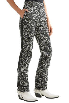 CALVIN KLEIN 205W39NYC Printed cotton-twill straight-leg pants