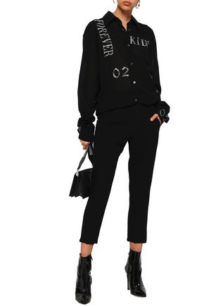 ANN DEMEULEMEESTER Cropped wool tapered pants