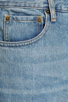 MONSE Cropped faded boyfriend jeans