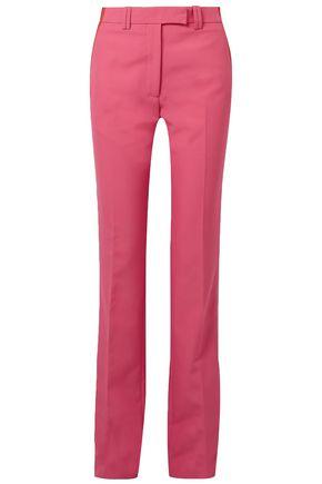 CALVIN KLEIN 205W39NYC Velvet-trimmed cady straight-leg pants
