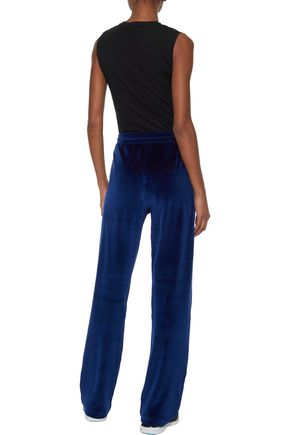 VERSACE Cotton-blend velvet track pants