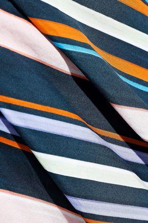 PETER PILOTTO Striped cotton wide-leg pants