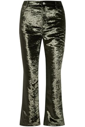 OPENING CEREMONY Crushed-velvet kick-flare pants