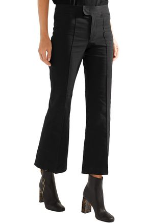 ISABEL MARANT Lyre cotton-blend kick-flare pants