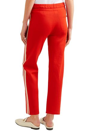 ISABEL MARANT ÉTOILE Dobbs striped stretch-jersey track pants