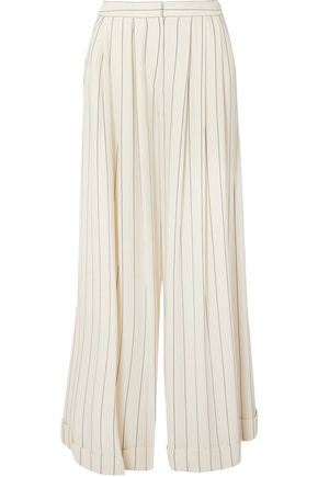 ROKSANDA Pinstriped cady wide-leg pants