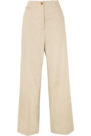 BURBERRY Eastcote cotton-blend twill wide-leg pants