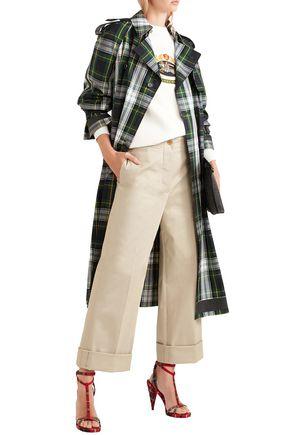 bc7211d3c1 BURBERRY Eastcote cotton-blend twill wide-leg pants