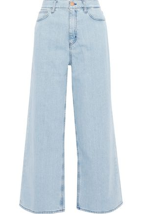M.I.H JEANS Caron cropped high-rise wide-leg jeans
