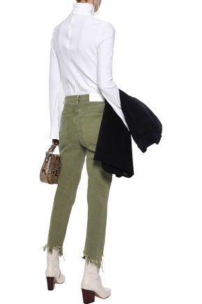 M.I.H JEANS Cropped high-rise slim-leg jeans