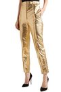 HILLIER BARTLEY Metallic leather tapered pants