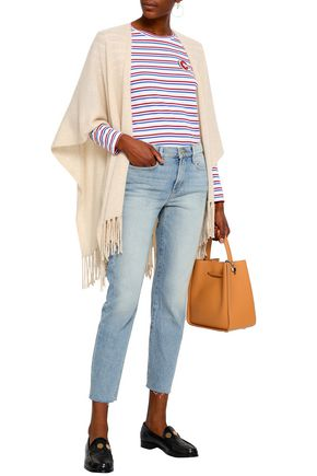 FRAME Cropped low-rise straight-leg jeans