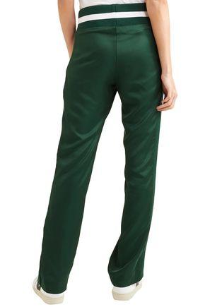 MAGGIE MARILYN Striped twill straight-leg pants