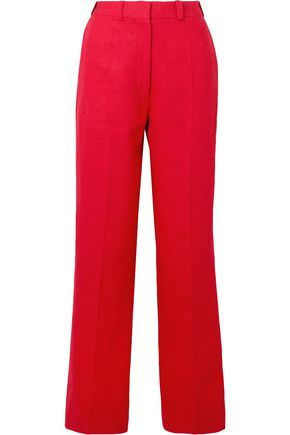 HILLIER BARTLEY Linen woven straight-leg pants
