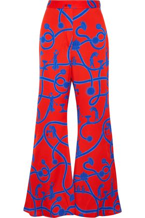 ELLERY Speed of Light printed silk-blend flared pants