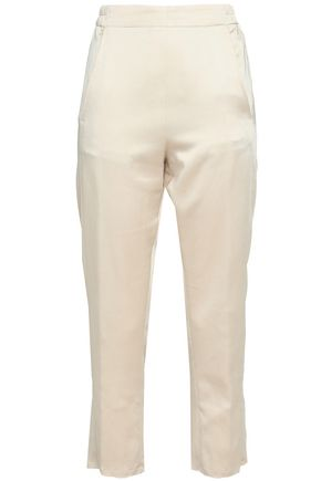 ANN DEMEULEMEESTER Cheyenne cropped twill tapered pants