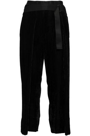 ANN DEMEULEMEESTER Belted corduroy culottes