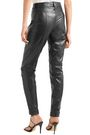 MUGLER Lace-up leather slim-leg pants