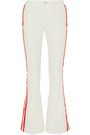 MAGGIE MARILYN Game Changer grosgrain-trimmed mid-rise bootcut jeans