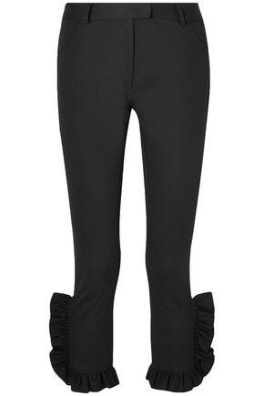 PREEN LINE Kala ruffled cotton-blend slim-leg pants
