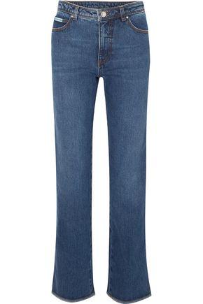 ALEXACHUNG High-rise straight-leg jeans