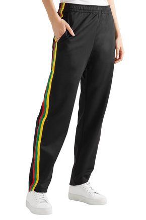 ACNE STUDIOS Norwich Face striped satin-jersey track pants