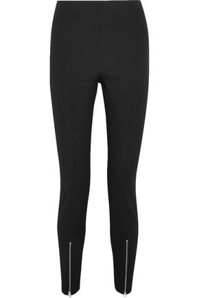 ELIZABETH AND JAMES Zip-detailed stretch-crepe skinny pants