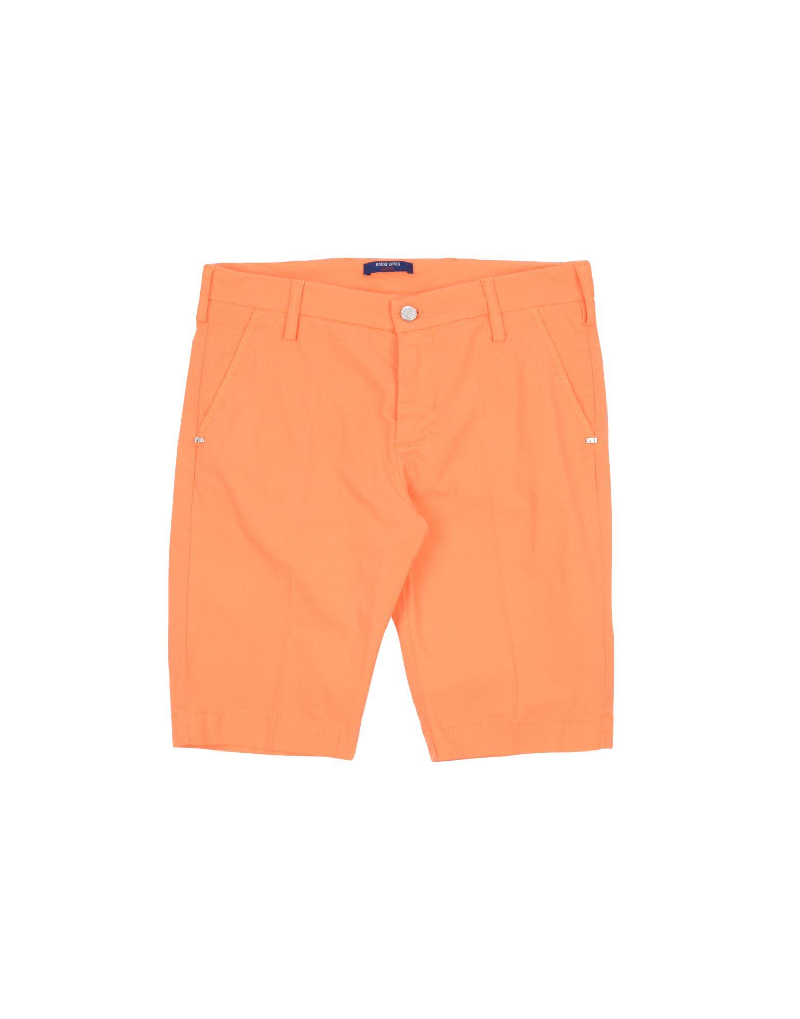 Entre Amis Garçon Kids' Bermudas In Orange