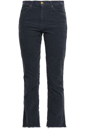 BA&SH Cropped cotton-corduroy straight-leg pants