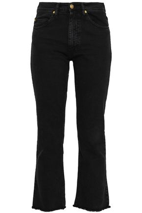 BA&SH Cropped high-rise bootcut jeans