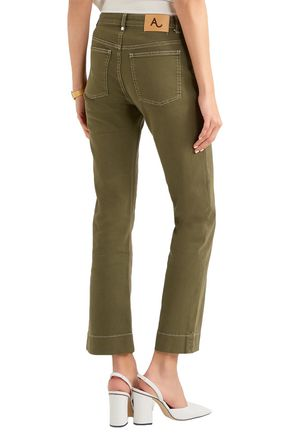 ALEXACHUNG Mid-rise flared jeans