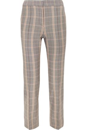 MAJE Checked woven tapered pants
