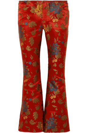 MARQUES' ALMEIDA Satin-jacquard flared pants
