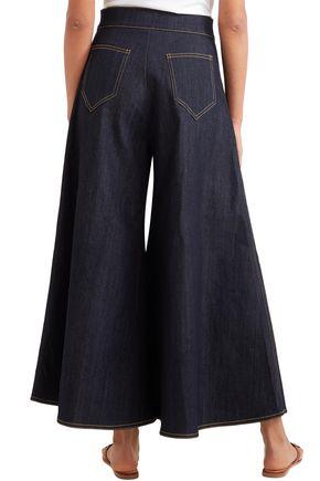 PAPER London High-rise wide-leg jeans