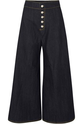 PAPER London High-rise wide-leg jeans