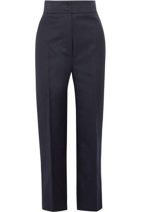 BURBERRY Cropped wool-twill straight-leg pants