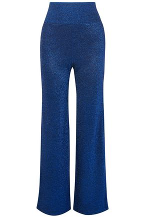 MISSONI Metallic stretch-knit wide-leg pants