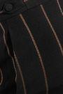 CHLOÉ Metallic striped cady wide-leg pants