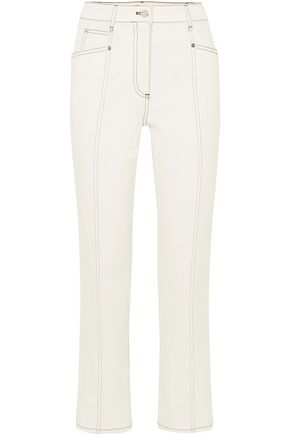 MUGLER Cropped high-rise bootcut jeans