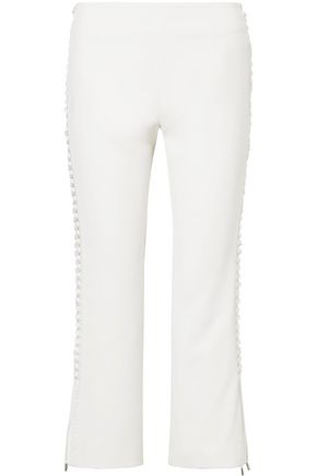 JONATHAN SIMKHAI Lace-up crepe kick-flare pants