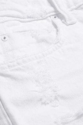 ALEXANDER WANG Cult distressed high-rise straight-leg jeans
