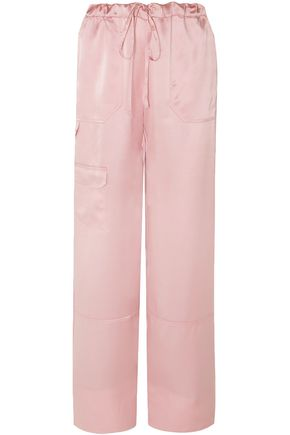 MARQUES' ALMEIDA Silk-satin wide-leg pants