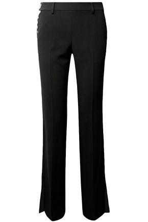 ALEXANDER WANG Embellished crepe bootcut pants
