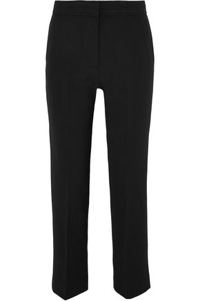 VICTORIA, VICTORIA BECKHAM Cropped woven straight-leg pants