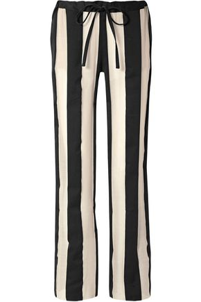 MARQUES' ALMEIDA Striped cotton and silk-blend gauze pants