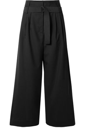 TIBI Wool woven wide-leg pants