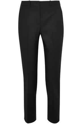 MICHAEL KORS COLLECTION Samantha cropped stretch-cotton slim-leg pants