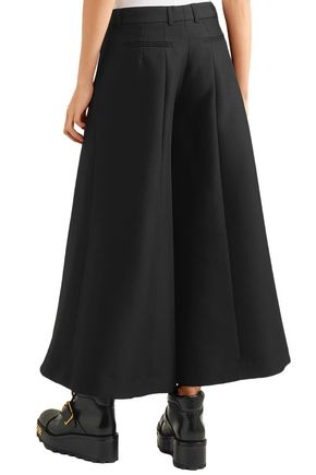 ROKH Cotton and wool-blend culottes
