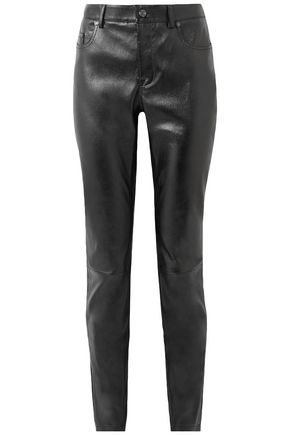 TOM FORD Glossed stretch-leather skinny pants