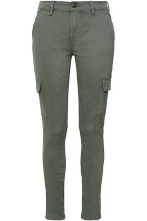 FRAME Cotton-blend twill skinny pants
